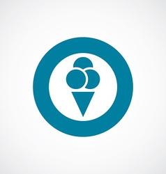 ice cream icon bold blue circle border vector image