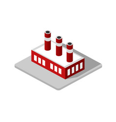 industrial factory decorative icon vector image vector image