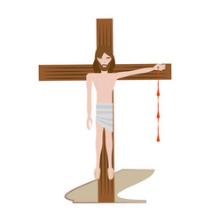 Jesus christ nailed the cross - via crucis vector