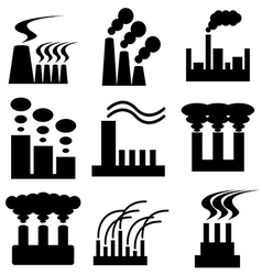 logo icons plant vector image