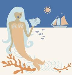 Ocean mermaid vector image vector image