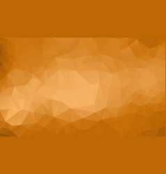 Polygon gold background vector