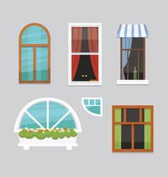 Printdifferent interior windows of various forms vector