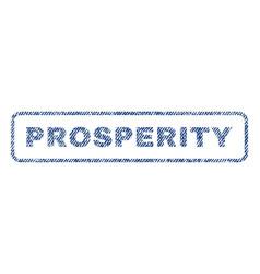 Prosperity textile stamp vector