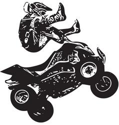 Quad bike vector