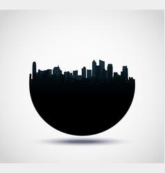 real estate buildings design vector image