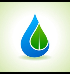 Save nature concept - leaf inside the waterdrop vector