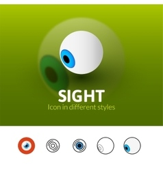 Sight icon in different style vector image vector image