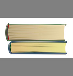 stack of old books realistic pages book vector image