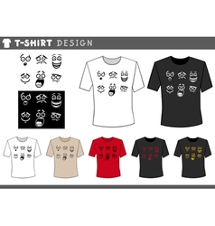 T shirt design with emotions vector