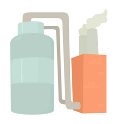 tank and pipe icon cartoon style vector image vector image