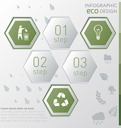 Template eco nature infographic icon and steps vector image