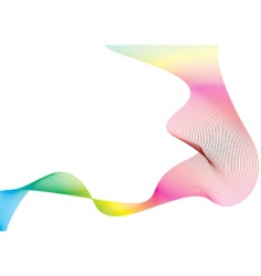 wave rainbow stream vector image