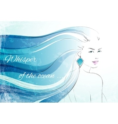 Whisper of the ocean background vector