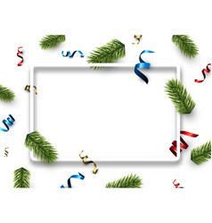 white christmas background with serpentine vector image