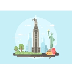 New york city flat vector