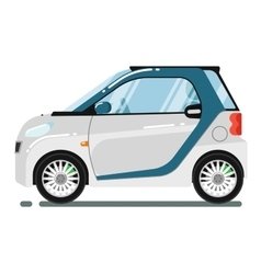 Compact smart coupe isolated on white background vector