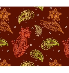 Seamless pattern with multicolored detailed indian vector image