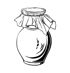 Antique jug vector