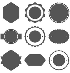Set of vintage frames for emblems labels insignia vector