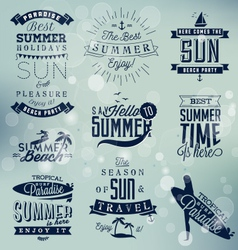 Summer beach calligraphy design elements vector