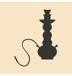 Flat in black and white mobile application hookah vector