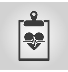 The medical report icon medical and ambulance vector