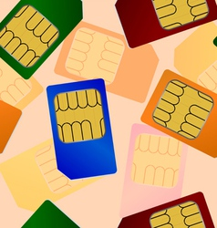 sim card seamless wallpaper vector image
