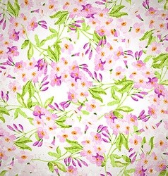 Floral pattern with pink flowers vector