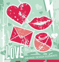 Love - grungy design elements vector