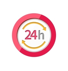 Customer support service 24h icon vector