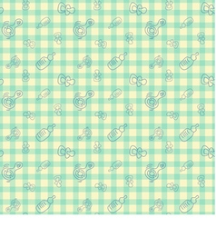 seamless background for baby vector image