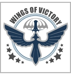 Special unit military emblem design vector