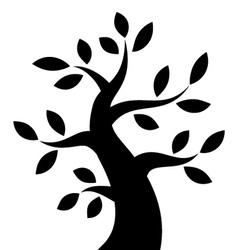 Black Bold Tree icon vector image