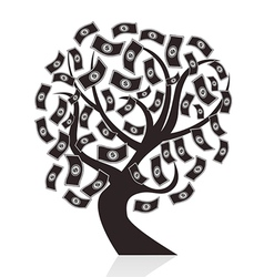 black money tree vector image vector image