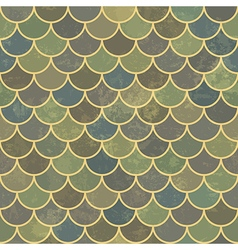 Blue seamless scale aged pattern vector