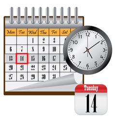 calendar and clock vector image