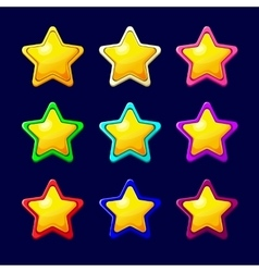 Cartoon colorful glossy Star vector image vector image