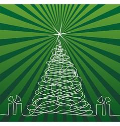 Christmas Tree Drawing vector image vector image