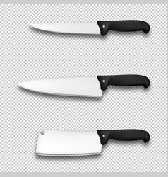 cutlery icon set - realistic diffrent vector image vector image