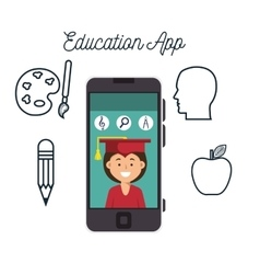 Education app design vector