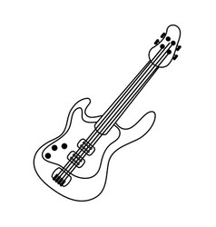 electric guitar icon image vector image vector image