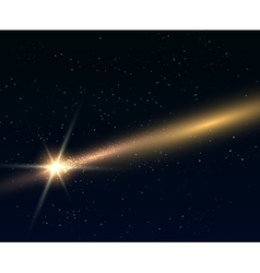 Falling bright star or comert vector