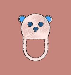 Flat shading style icon teddy bear bib vector