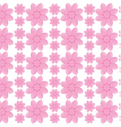 flower garden seamless pattern design vector image