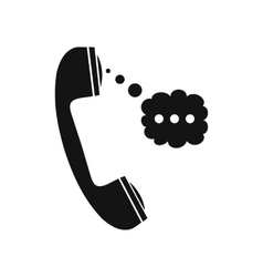 Handset and speech cloud vector