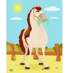 Horse in the wild west vector