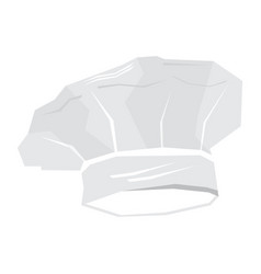 isolated chef hat vector image vector image