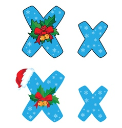 letter X Xmas vector image vector image