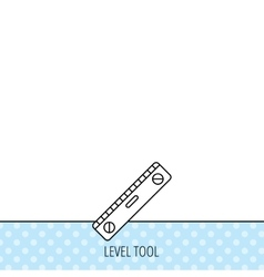 Level tool icon Horizontal measurement sign vector image